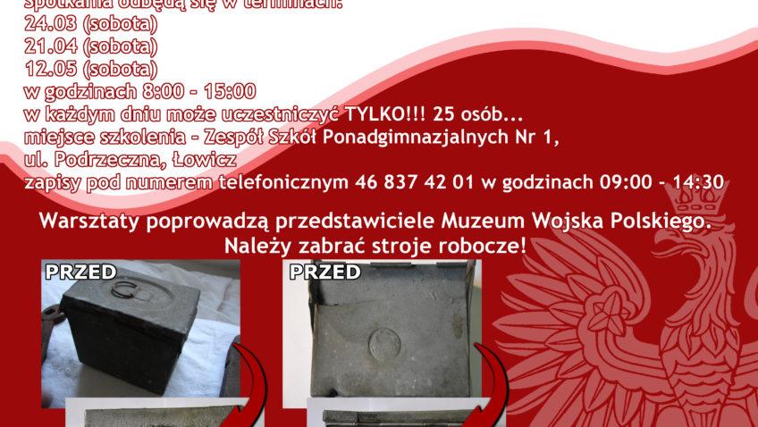 """""""Ocalić odzapomnienia""""- warsztaty konserwacji eksponatów 24.III"""